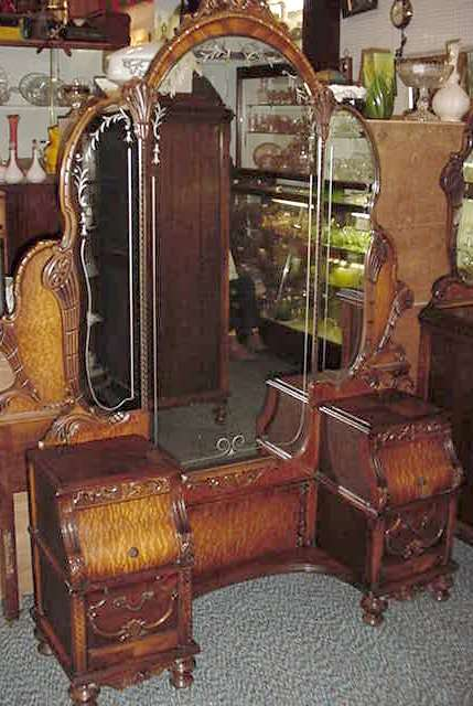 Beautiful Complete Carved Depression Bedroom Set
