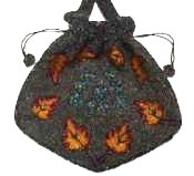 AUTUMN LEAVES Beaded Purse Made in Belgium - MINT!