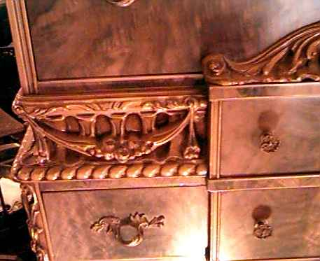 Close-Up of Carving on Chest