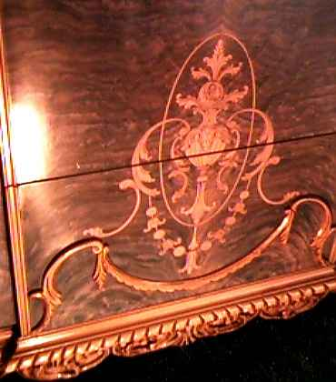 Close-Up of Marquetry on Chest
