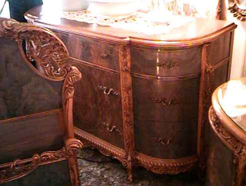 Partial Photo of French Bedroom Dresser Base