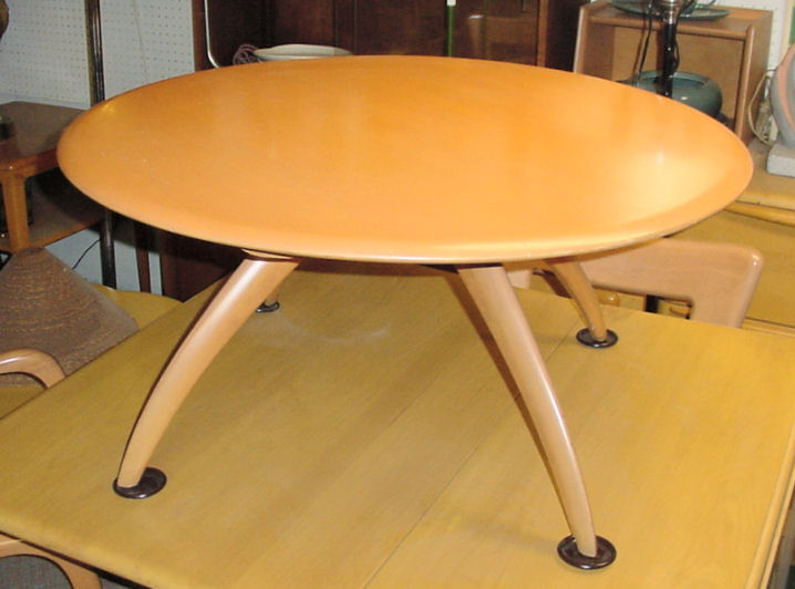 HEYWOODWAKEFIELD REVOLVING COCKTAIL TABLE