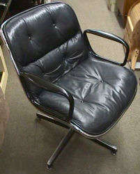Leather Pollock Chair - Click for Enlarged Image