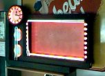 Neon Menu Clock Sign