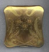 ELGIN AMERICAN Goldtone Compact - nice Shape!