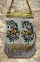 Mint Condition Micro-Beaded Floral Purse with Bonwit-Teller Original Box