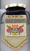 1800's Americana Beaded Purse in Book!