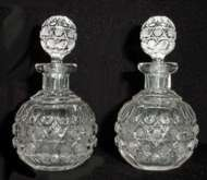 Pair of Cut Crystal Perfumes
