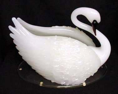 Pino Signoretto Venetian Glass Swan Sculpture