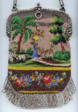 Figural Beaded Purse with Continuous 2-Sided Scene