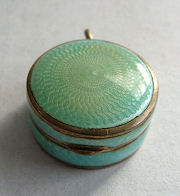 Enamel Guilloche Patch Box
