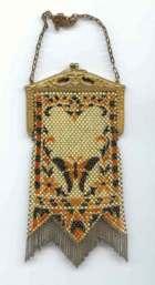 Figural Mandalian Butterfly Mesh Purse