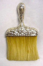 Sterling Repousse Clothing Brush