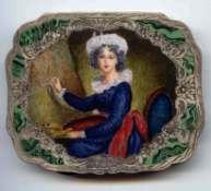 EARE Figural Self-Portrait of Vigee Le Brun Painting Marie Antoinette