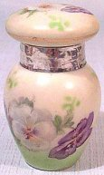 Pansies Porcelain Perfume Dated 1912