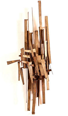 Marc Weinstein Brutalist Wall Sculpture