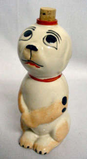 French Figural 1930's Naughty Puppy Scent Bottle