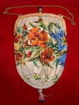 RARE 2-Sided Design Beaded Purse with Jeweled Frame - From New York State Private Collection!