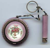 F and B Co. Sterling Silver Enamel Guilloche Tango