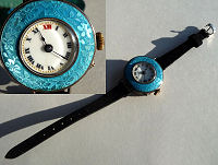 London Enamel Guilloche Watch