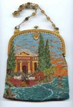 Scenic Gazebo Beaded Purse ~ Mint Conditon ~