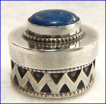 Sterling Lapis Patch Box