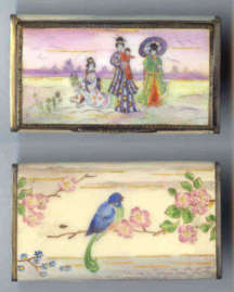Oriental Flair Enamel Vanity Case