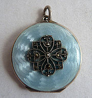 Enamel Guilloche Locket