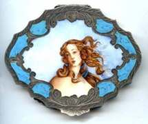 Very RARE Italian Figural Compact featuring Botticelli's Bust of Venus ~ MINT Condition! ~