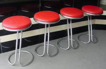Gilbert Rohde Z Stools - Click forLarger Image