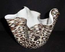 Murano Glass Handkerchief Vase