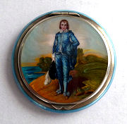 Blue Boy Enamel Guilloche Compact