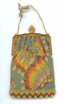 Rare Indian Headdress Mesh Purse - Click for Larger Image