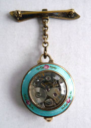 Bucherer Enamel Guilloche Watch