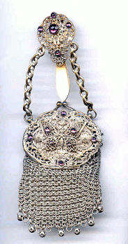 Jeweled Butterfly Chatelaine Purse