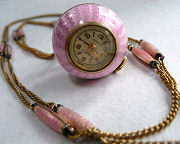 Bucherer Enamel Guilloche Ball Watch