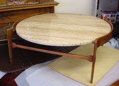 Travertine Marble Danish Table