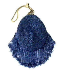 Piecrust Beaded Purse