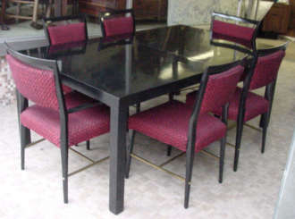 Ebony Diningroom Set by Harvey Probber