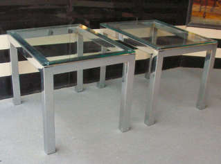 Pair Chrome Tables