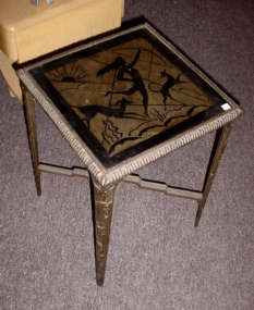 Art Deco Bronze Monkey Table