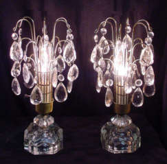 Crystal Prism Banquet Lamps