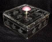 Etched Lead Crystal Dresser Box