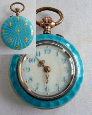 Enamel Guilloche Watch