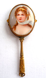 Jeweled Portrait Mirror