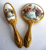 Child's Mirror and Brush Set