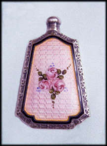 Webster Sterling Enamel Guillche Purse Perfume