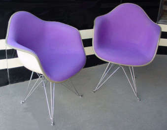 Pair of Eames Shell Chairs