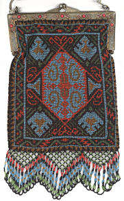 Carpet Design Beaded Purse