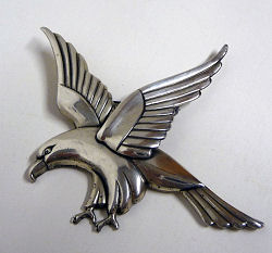 Coro Sterling Silver Eagle Brooch